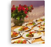Event Food Shot Canvas Print