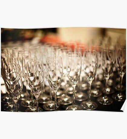 Champagne Glasses Poster