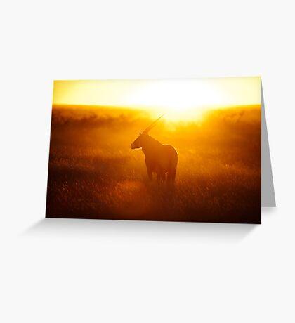 Oryx at sunset Greeting Card