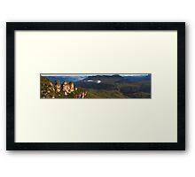 The Three Sisters - Blue Mountains - Echo Point, Australia Framed Print