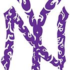 Yankees Tribal Purple by lighthousegrphx