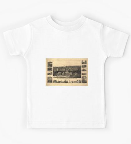 Panoramic Maps Birds eye view of the city of Washington from the dome of the US Capitol 003 Kids Tee
