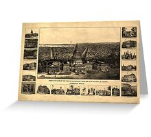 Panoramic Maps Birds eye view of the city of Washington from the dome of the US Capitol 003 Greeting Card