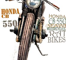 HONDA RAT BIKE T SHIRT by JohnLowerson