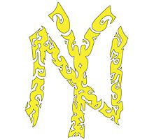 Yankees Tribal Yellow w/Black Photographic Print