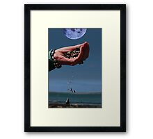 our earth and moon and water Framed Print
