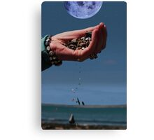 our earth and moon and water Canvas Print
