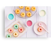 Mini bundt cakes Canvas Print