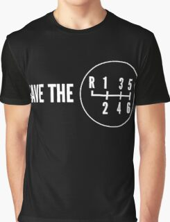 Save the Manual Transmissions (stick shift) Graphic T-Shirt