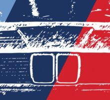 E30 Grungy M stripe overlay Sticker