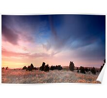 Cape Cod Blue and Gold Sunset Poster