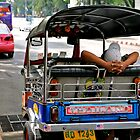Lazy Tuk Tuk Driver in Bangkok by skellyfish