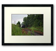 On The Track Framed Print