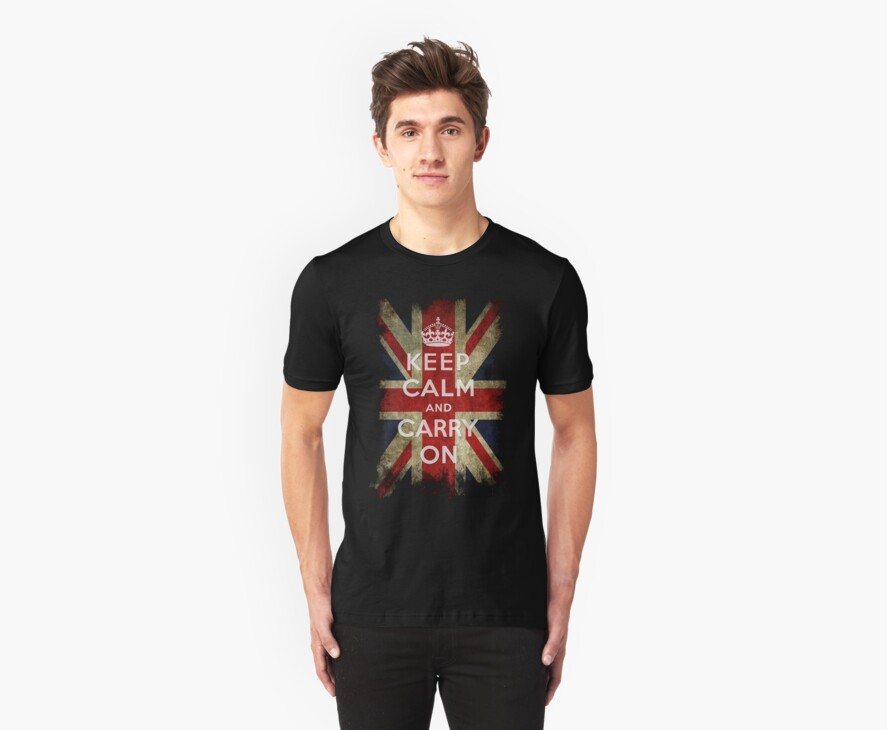 Vintage Keep Calm and Carry On and Union Jack Flag by stabilitees