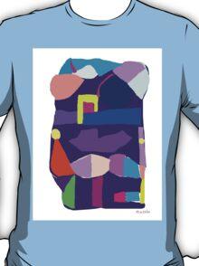 Deep Purple Digital Abstract T-Shirt