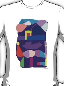 Deep Purple Digital Abstract T-Shirt
