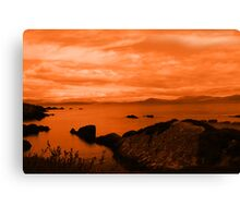 red coastal kerry view Canvas Print