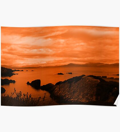 red coastal kerry view Poster