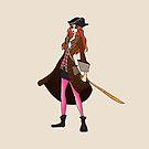 Amy Pond, The Pirate by Barbora  Urbankova