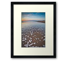 Wave Patterns on Harlech Beach at Sunset Framed Print
