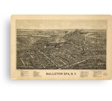 Panoramic Maps Ballston Spa NY Canvas Print