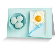Eggs and fried egg Greeting Card