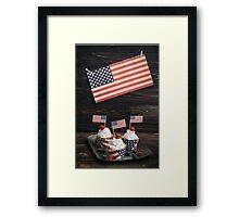 Independence day cupcakes Framed Print