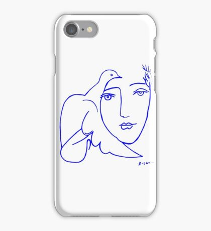 Dove Face by Picasso iPhone Case/Skin