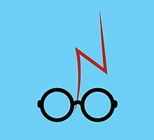 Harry Potter - Glasses and scar - Blue by EF Fandom Design