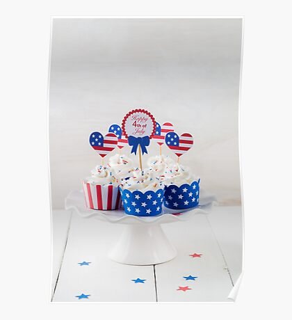 Independence day cupcakes Poster