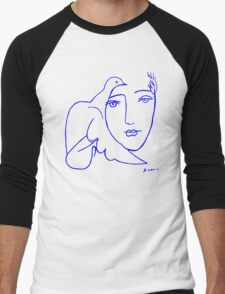 Dove Face by Picasso Men's Baseball ¾ T-Shirt