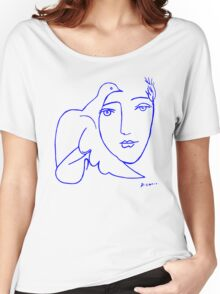 Dove Face by Picasso Women's Relaxed Fit T-Shirt