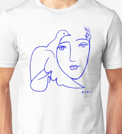 Dove Face by Picasso Unisex T-Shirt