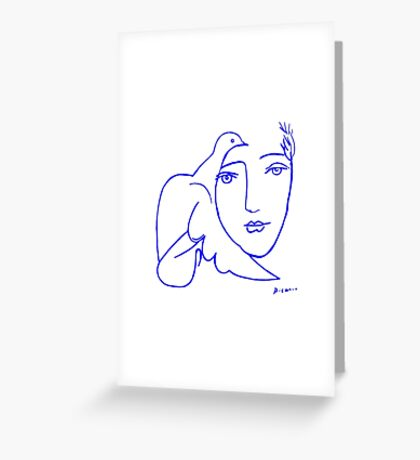 Dove Face by Picasso Greeting Card