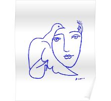 Dove Face by Picasso Poster