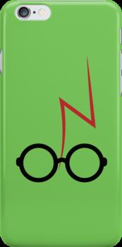 Harry Potter - Glasses and scar - Green by EF Fandom Design
