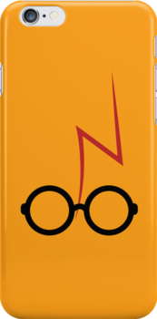 Harry Potter - Glasses and scar - Orange by EF Fandom Design