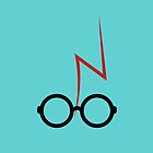 Harry Potter - Glasses and scar - Turquoise by EF Fandom Design