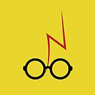 Harry Potter - Glasses and scar - Yellow by EF Fandom Design