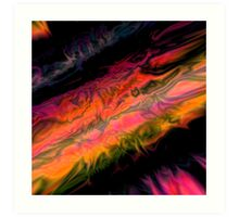 psychedelic flames Art Print