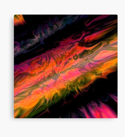psychedelic flames Canvas Print