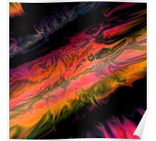 psychedelic flames Poster