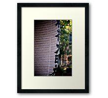 Temple Lantern Framed Print