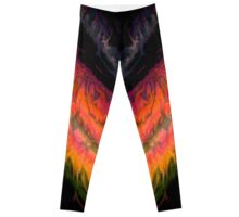 psychedelic flames Leggings