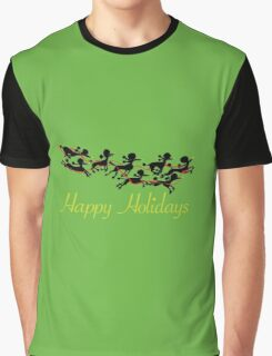 Poodle Sleigh Graphic T-Shirt
