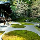 Serene Japanese Temple Garden by skellyfish