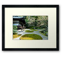 Serene Japanese Temple Garden Framed Print