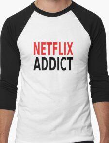 Netflix Addict Men's Baseball ¾ T-Shirt