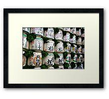 Festive Sake Barrels Framed Print