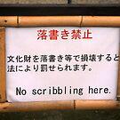 No Scribbling Here by skellyfish